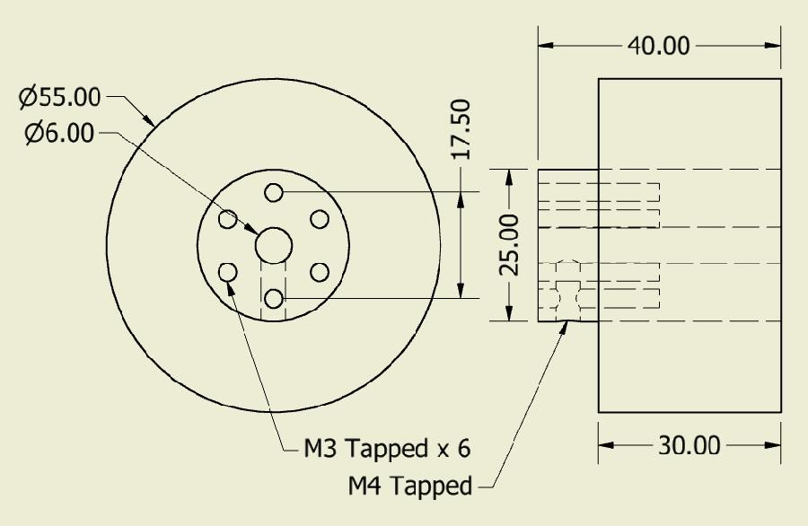 JSumo Robot Wheel 55x40mm Pair (JS5540)
