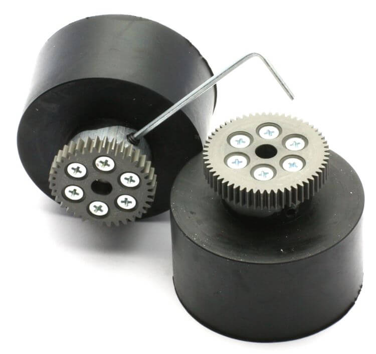 JSumo Robot Wheel 55x40mm Pair