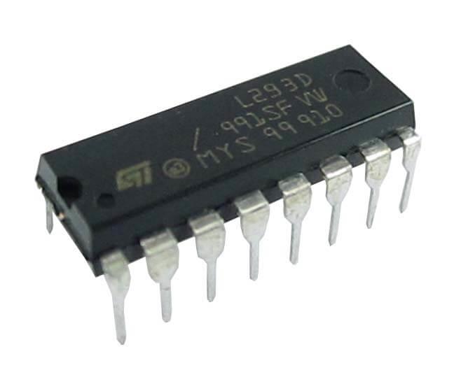 L293D Dual Motor Driver IC 600Ma