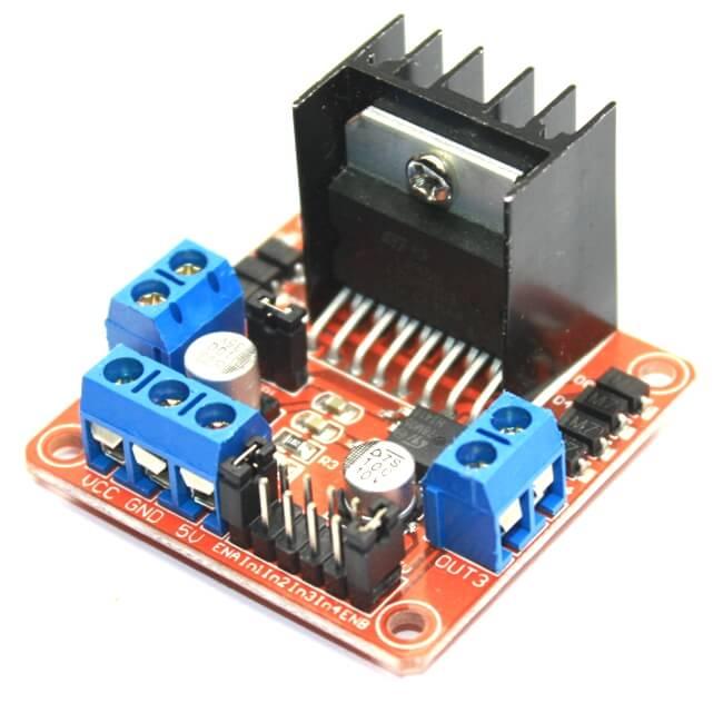 L298N Compact Dual Motor Driver Board