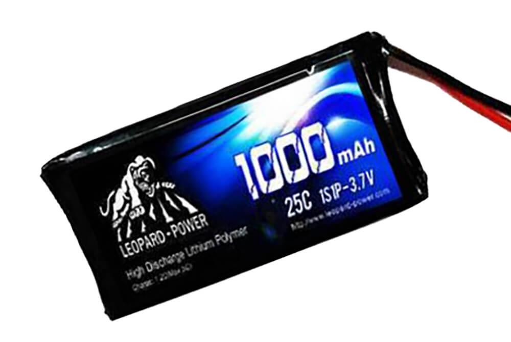 Leopard-Power 1S 3.7V 1000mAh 25C Lipo Battery