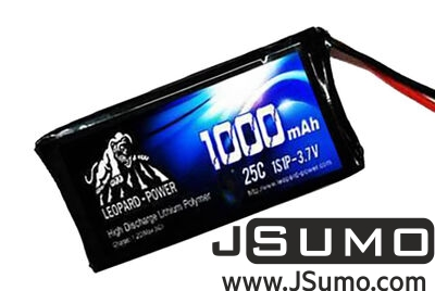 - Leopard-Power 1S 3.7V 1000mAh 25C Lipo Battery