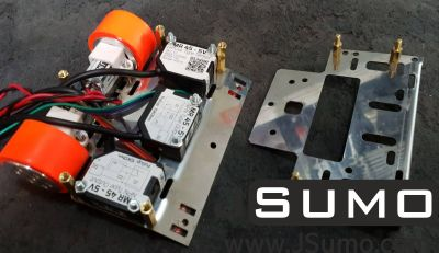 Jsumo - M1 Mini Sumo Robot Chassis (No Electronics - No Motors) (1)