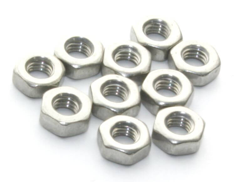M3 Stainless Steel Nut (10 Pieces Pack)