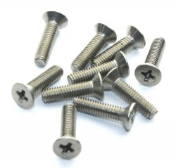 M3x12 Stainless Steel Countersunk Machine Screw (10 Pcs Pack) - Thumbnail