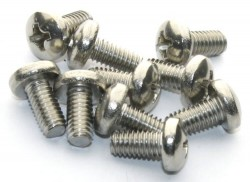 M4x8 Stainless Steel Panhead Machine Screw (10 Pcs Pack) - Thumbnail