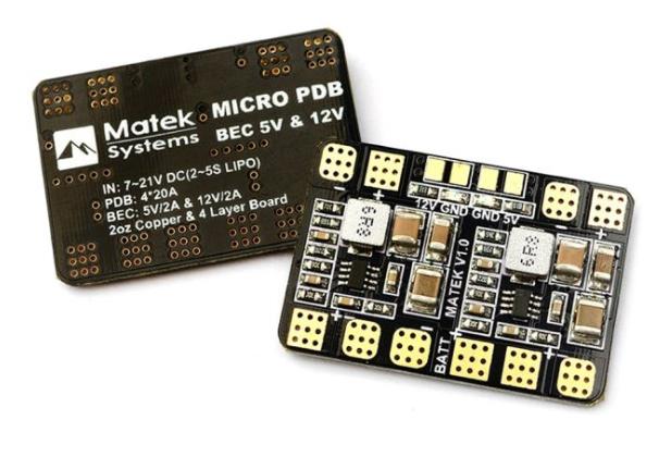 Mateks Micro PDB w/ Bec 5V & 12V