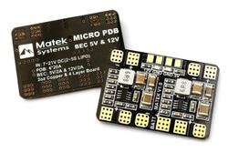 Mateks Micro PDB w/ Bec 5V & 12V - Thumbnail