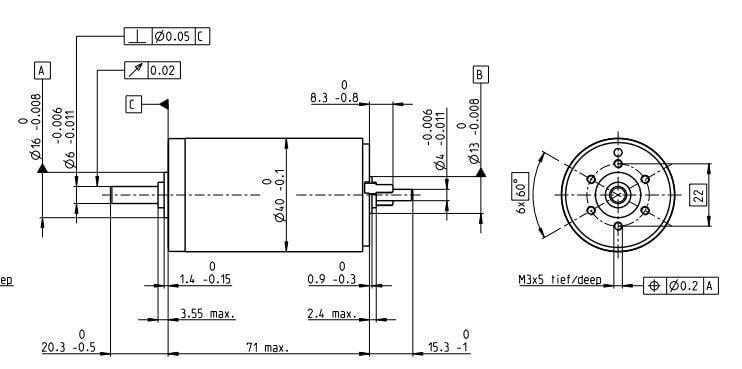 MAXON RE40 DC MOTOR (148866)