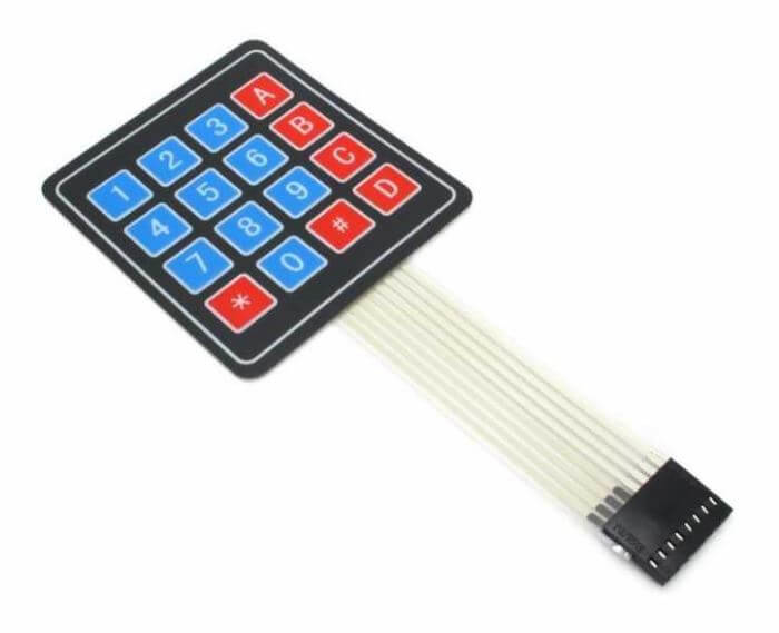 Membrane Keypad Module (4x4 Keypad)