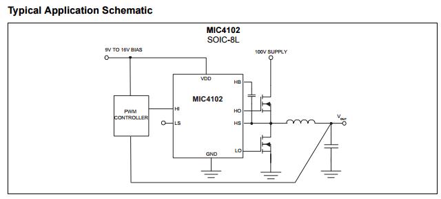 MIC4102YM TTL Half Bridge Mosfet Driver IC