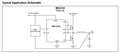 Microchip - MIC4102YM TTL Half Bridge Mosfet Driver IC (1)