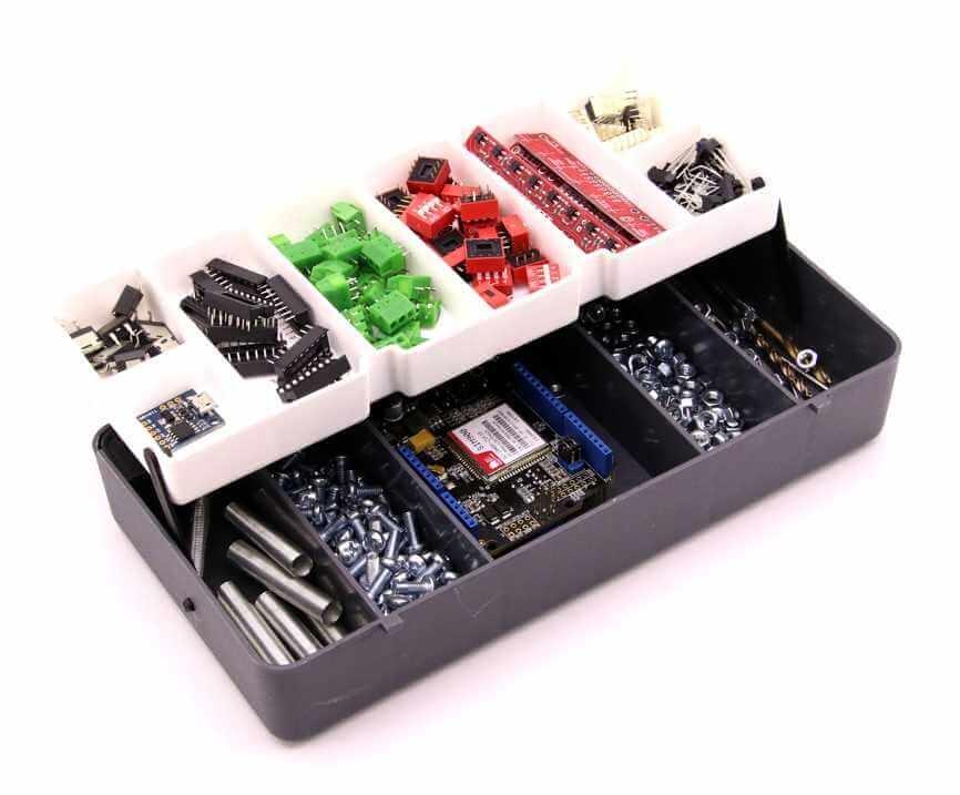 Mini Organizer Component Box (Grey - 13 Compartment)