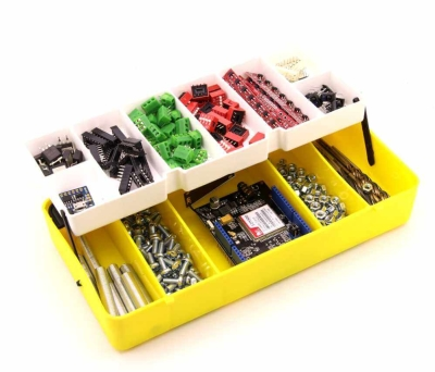 Jsumo - Mini Organizer Component Box (Yellow - 13 Compartment)