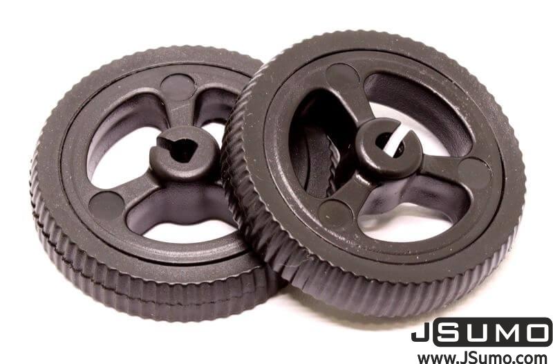 Mini Rubber Wheel 32x7mm Pair - Black