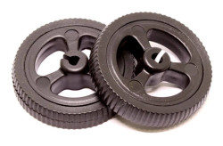 Mini Rubber Wheel 32x7mm Pair - Black - Thumbnail