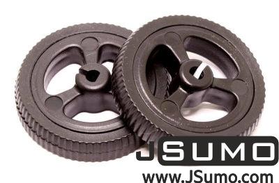 Jsumo - Mini Rubber Wheel 32x7mm Pair - Black