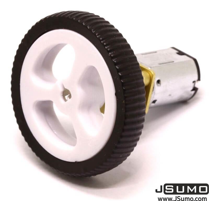 Mini Rubber Wheel 32x7mm Pair - White