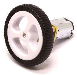 Mini Rubber Wheel 32x7mm Pair - White - Thumbnail