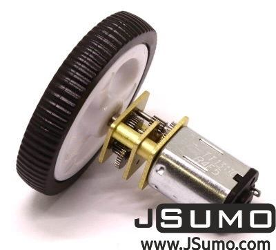 Jsumo - Mini Rubber Wheel 32x7mm Pair - White (1)