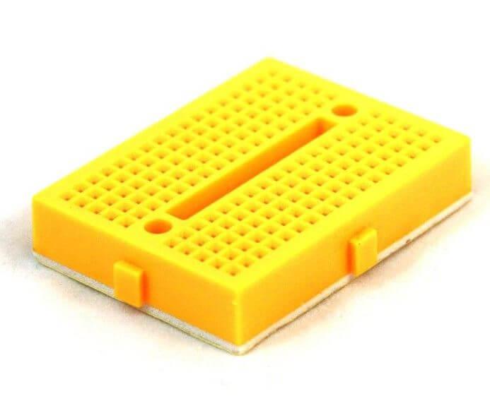 Mini Yellow Breadboard 170 Pinhole