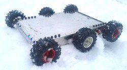 Mobile Explorer Robot 6WD (Mechanical Kit & No Electronics) - Thumbnail