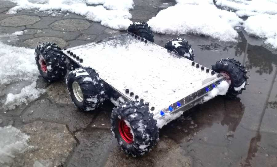 Mobile Explorer Robot 6WD (Mechanical Kit & No Electronics)