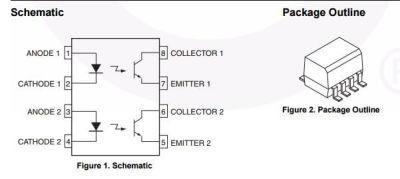 Fairchild - MOCD213R2M 2Ch. Soic Case Optocoupler (1)