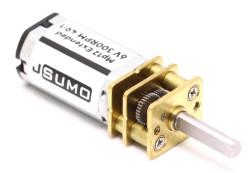 MP12 Extended Micro Gear Motor 6V 300RPM MP - Thumbnail