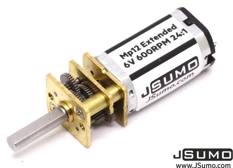 MP12 Extended Micro Gear Motor 6V 600RPM MP