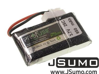 - Profuse 1S 3.7V 25C 650 Mah LiPo Battery