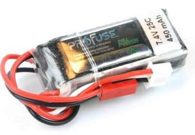 - Profuse 2S 7.4V 450 Mah LiPo Battery