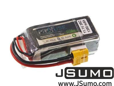 - Profuse 3S 11.1V Lipo Battery 1350mAh 25C