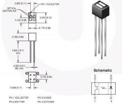 QRD1114 Optocoupler (Line Edge Sensor) - Thumbnail