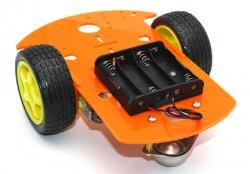 RoboMOD 2WD Mobile Robot Chassis Kit (Orange) - Thumbnail