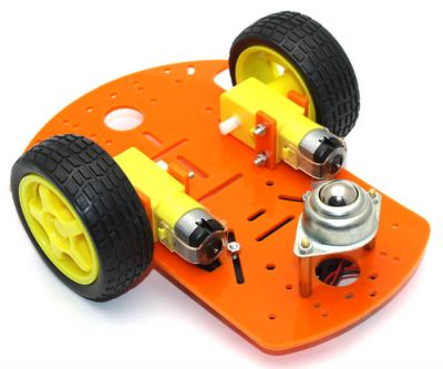 Jsumo - RoboMOD 2WD Mobile Robot Chassis Kit (Orange)