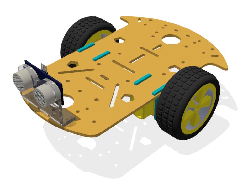 RoboMOD 2WD Mobile Robot Chassis Kit (Orange)