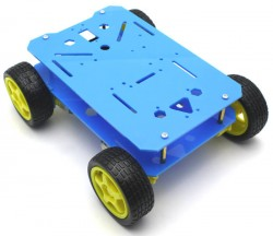 RoboMOD 4WD Explorer Mobile Robot Chassis Kit (Blue) - Thumbnail