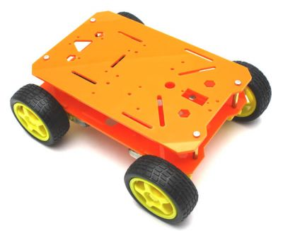 Jsumo - RoboMOD 4WD Explorer Mobile Robot Chassis Kit (Orange)