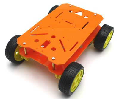 Jsumo - RoboMOD 4WD Explorer Mobile Robot Chassis Kit (Orange) (1)