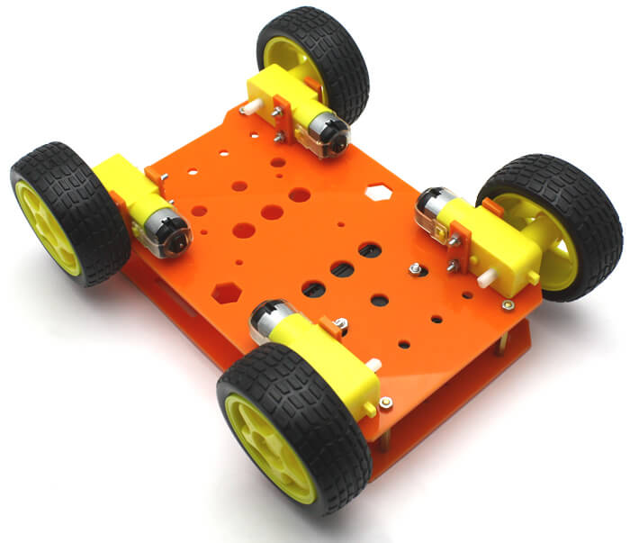 RoboMOD 4WD Explorer Mobile Robot Chassis Kit (Orange)