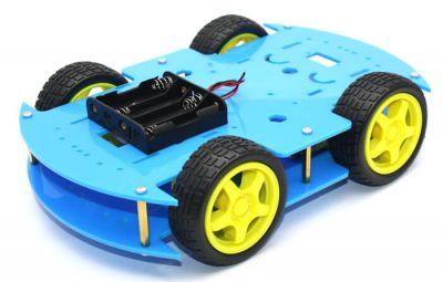 Jsumo - RoboMOD 4WD Mobile Robot Chassis Kit (Blue)