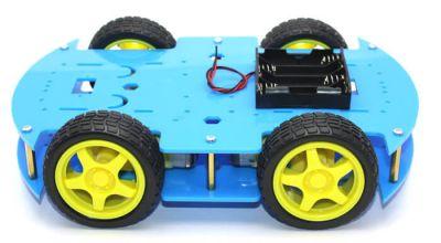 Jsumo - RoboMOD 4WD Mobile Robot Chassis Kit (Blue) (1)