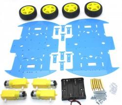 RoboMOD 4WD Mobile Robot Chassis Kit (Blue) - Thumbnail