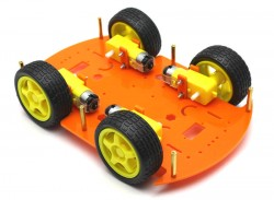 RoboMOD 4WD Mobile Robot Chassis Kit (Orange) - Thumbnail