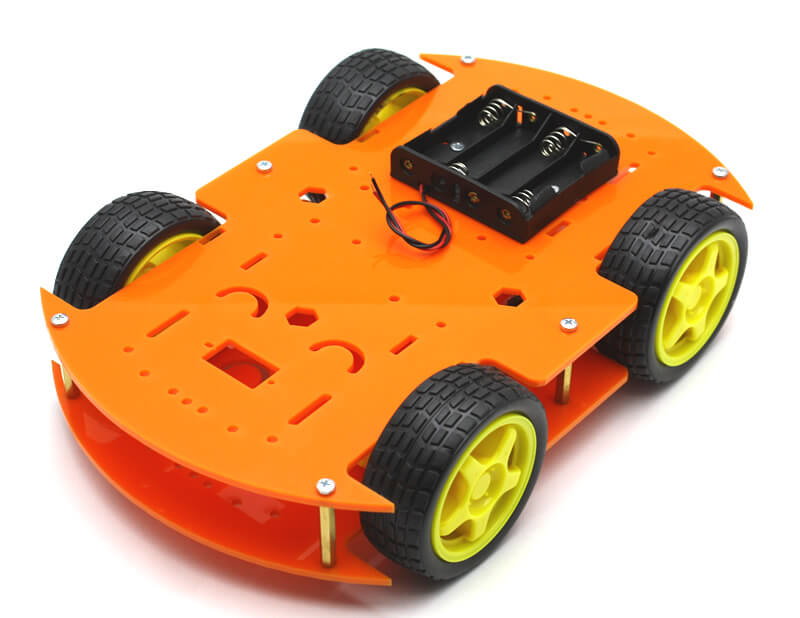 RoboMOD 4WD Mobile Robot Chassis Kit (Orange)