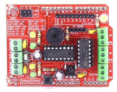 Jsumo - RoboShield Arduino Robot Shield (Assembled) (1)