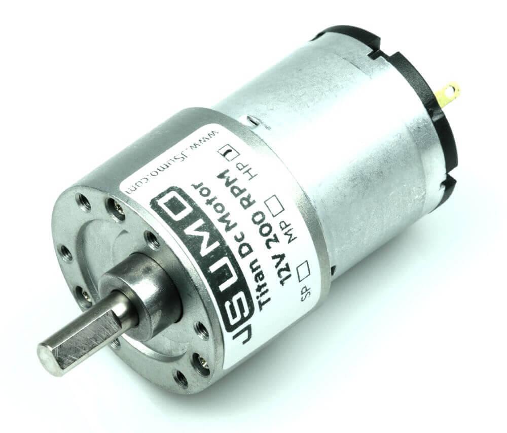 Titan Dc Gearhead Motor 12V 200 RPM (60:1)
