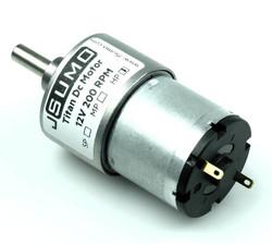 Titan Dc Gearhead Motor 12V 200 RPM (60:1) - Thumbnail