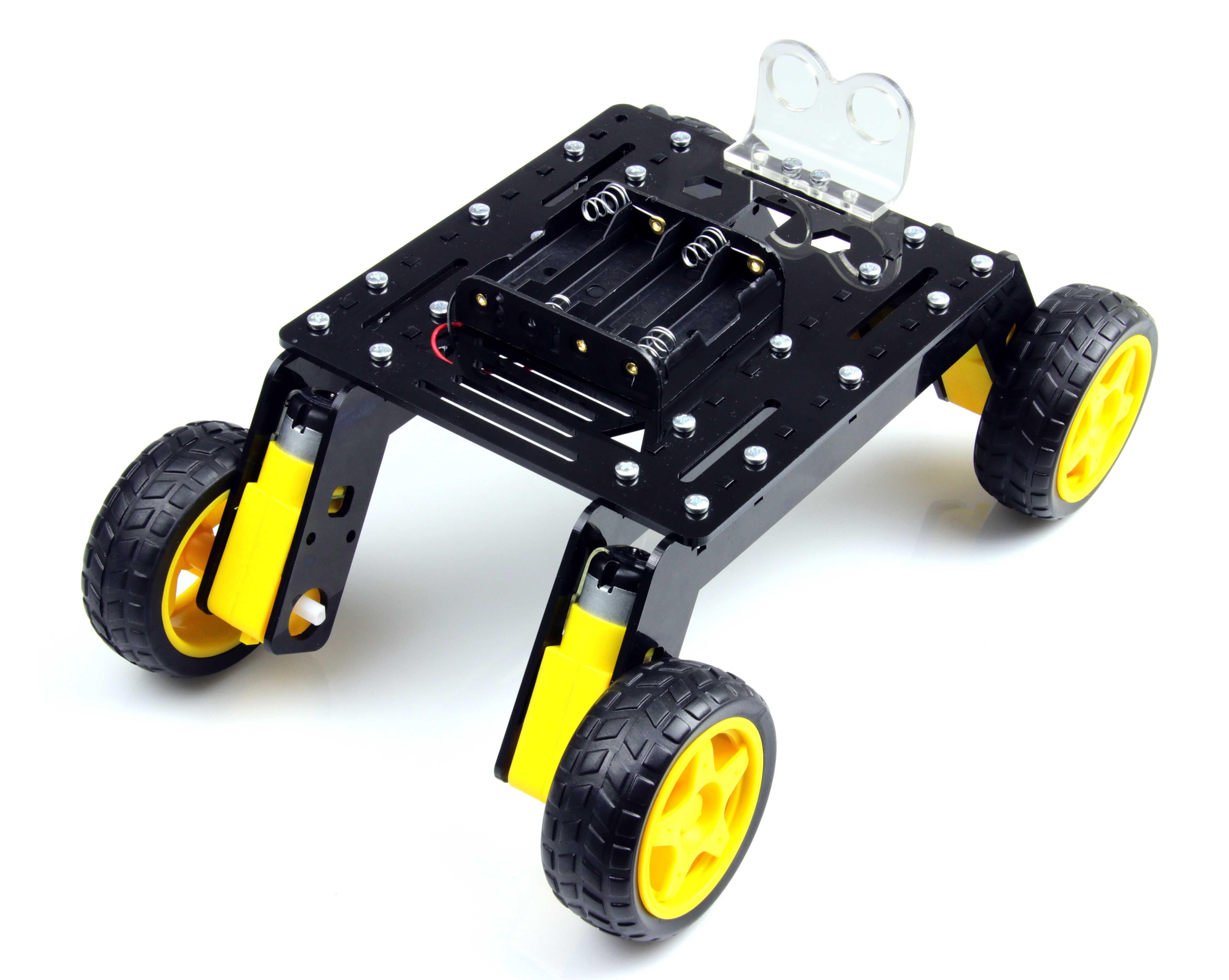 Rover 4WD Explorer Mobile Robot Chassis (Plexiglass Body)